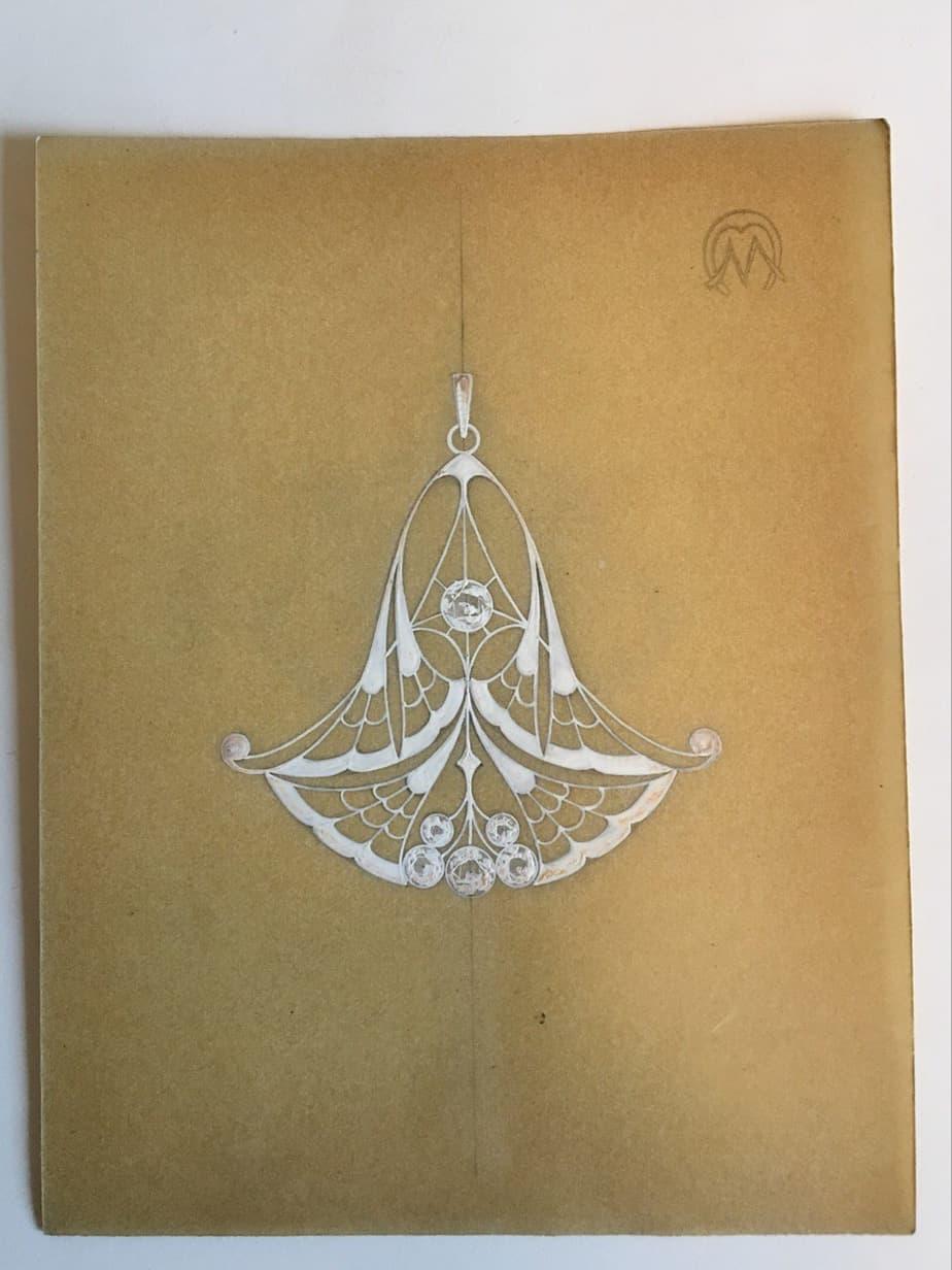 Schmuckentwürfe des Jugendstil / Art nouveau