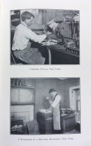 Crimping petals, New York / A workroom in a one-time residence, New York