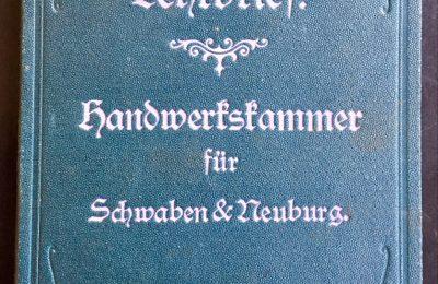 Lehrbrief / Prüfungszeugnis einer Modistin von 1907