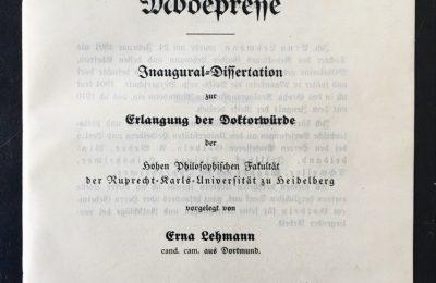 Die Entwicklung der Modepresse – aus Sicht des Jahres 1914